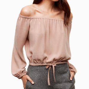WILFRED ELEANORA NUDE OFF THE SHOULDER BLOUSE